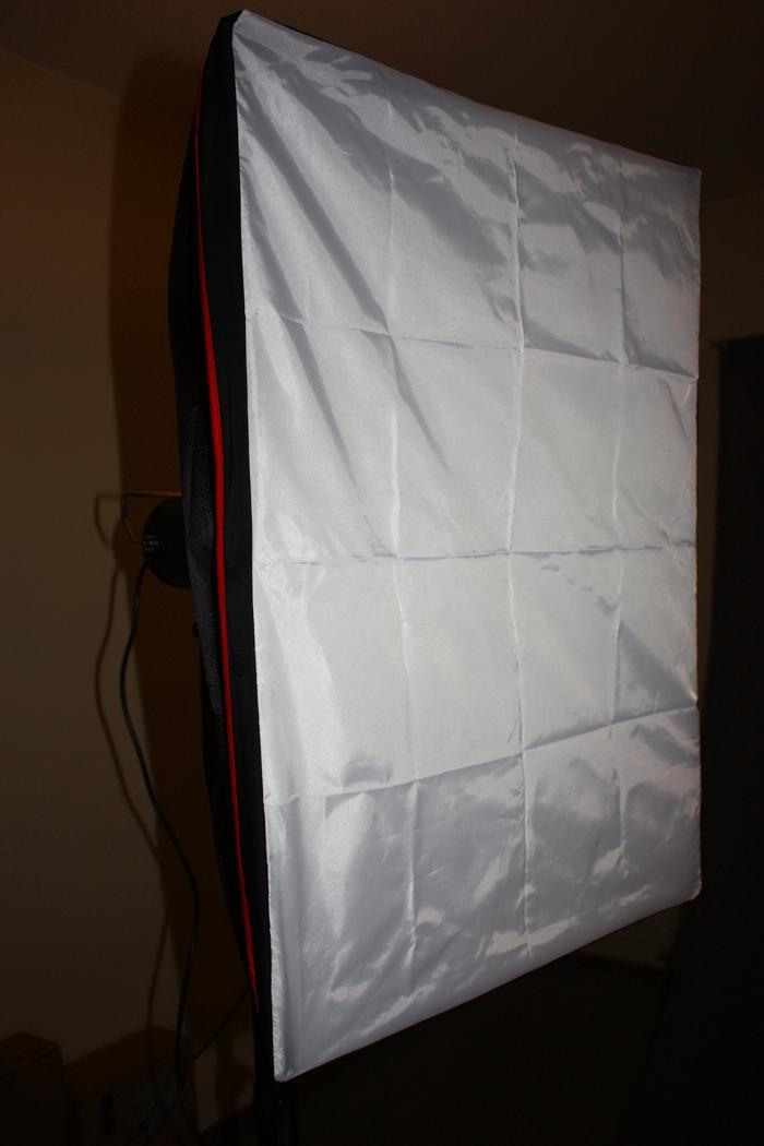 Monterad softbox